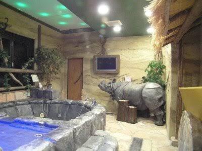 今度群馬県に行った時に風呂にサイの置物があるホテルに泊まりたいのですが、何で言う名前のホテルでしょうか?
