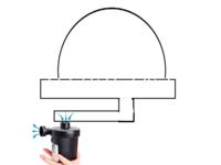 浮き輪の空気入れ、抜けるタイプのポンプにどうにか接続し鋳造用の真空吸引機を作ることはできますか? 注意点、こうすればいいとのコメントがあればうれしいです。