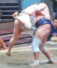 照ノ富士の膝は大丈夫なのでしょうか。膝に響かなかったのでしょうか