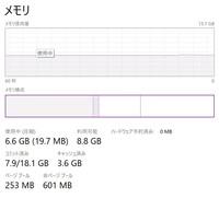Windows10 タスクマネージャーでメモリ速度の表示がありません。 解決方法はありますか?