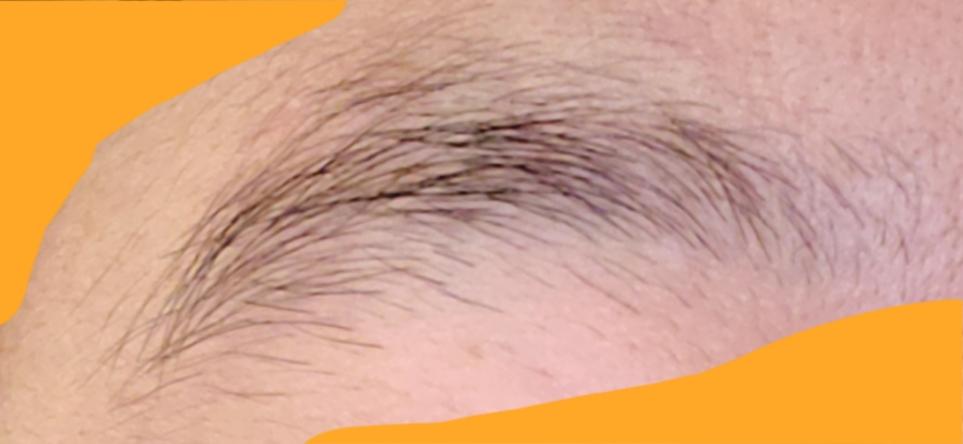 この眉毛、どう整えたらよいでしょうか? 女です。 画像右側が眉頭です。
