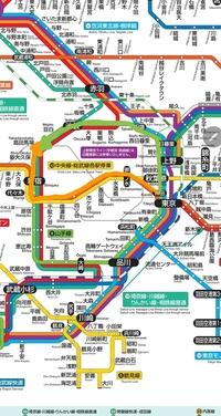 定期券の区間をオレンジ色の矢印(中央線で新宿に乗り換える)で設定する場合、緑の矢印(山手線)の区間を乗ってもいいですか。 Suicaも持っています。