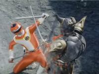 『暗闇暴魔ジンバと剣での勝負を繰り広げるレッドターボ』 数ある特撮作品の中で「ヒーローと悪役との剣による一騎打ち」と聞き、あなたは何を思い浮かべましたか?