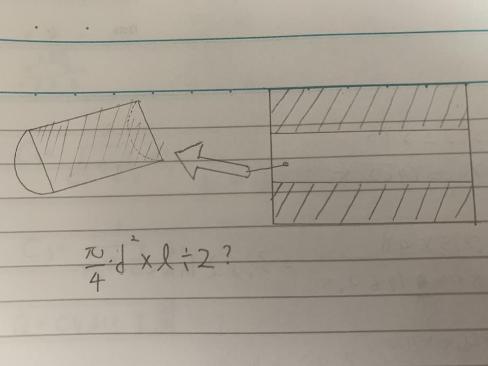 工業力学の問題です。 わたしはこのような円筒形の物体の場合はそれぞれパーツに分けて体積を出し、中心線の左側からの長さ×体積÷全体の体積でだしています。 しかしこの問題の場合はどうなるのでしょうか? 円