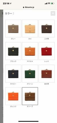 20代前半の女性の方に質問です。この画像のイルビゾンテの財布でどの色の財布をもらったら嬉しいですか?? 22歳の彼女の誕プレでどの色にするか悩んでいます。 よろしくお願いします。
