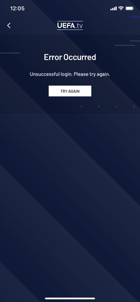 UEFAtvについてです。 登録し、アプリをインストールして視聴していましたが、急に見れなくなりました。 一番下のメニューからMoreを選び、右上のSign inを押しても反応がありません… ...