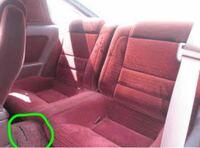 後部座席の緑で◯したところにピッタリのドリンクホルダーないですか?