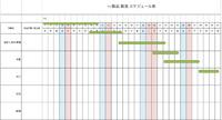 VBA エクセルについて スケジュール表に 日付を〇月〇日から〇月〇日までと入力したら、矢印が自動で伸びるものを作りたいです サンプルコードなどはありませんか?