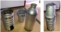 この湯沸かし道具の名前をご存じの方へ 愛用してる湯沸かし道具なのですが、名前がわかりません。どなたかご存じの方ご教示ください。 確かヨーロッパ系のミリタリーグッズのお店で買ったと記憶しています。