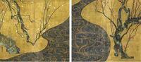 尾形光琳の最高傑作は、下の「紅白梅図屏風」でしょうか? また、この絵は俵屋宗達の風神雷神図屏風に対する、尾形光琳の「答え」と言われていますが、これはどのような意味でしょうか? もちろん尾形光琳は、俵...