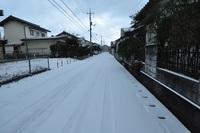 雪、降っていますか? 17時の我が家の前です。 積雪2センチ・気温-3℃ 予報では今朝6時から明朝6時までに積雪40センチですが・・・。  大晦日の朝は26センチ積もって庭には、その雪が残っているのに。 今年は雪は要りません。