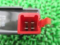 スティード400 VLSに使われている、パイロットランプチェックユニットの赤いカプラー内4つの端子が、 それぞれ何色の配線へ接続か教えてください。配線は3本あります。(黒/茶、緑/黒、白/青)