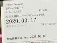 ディズニーのチケットについて ホームページを見てもいまいちこの今持っているチケットが払い戻しができるかわからなかったので質問させてください  こちらのチケットは2020年の2月頃に購入したもので、休園にな...