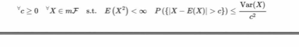 確率論です Chevychevの不等式です この証明をお願いします