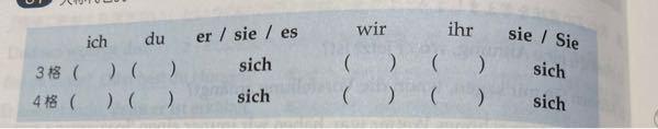 ドイツ語なのですが、表に入るものを教えていただけませんか?よろしくお願いします。