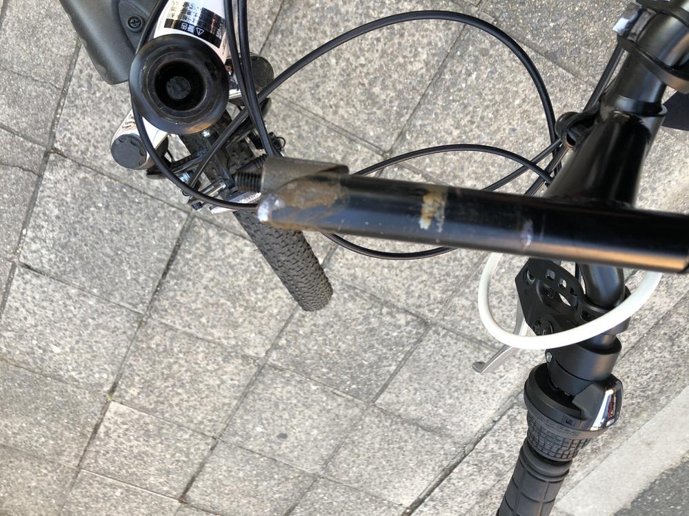 自転車のハンドルの底抜けました どうすれば治りますか