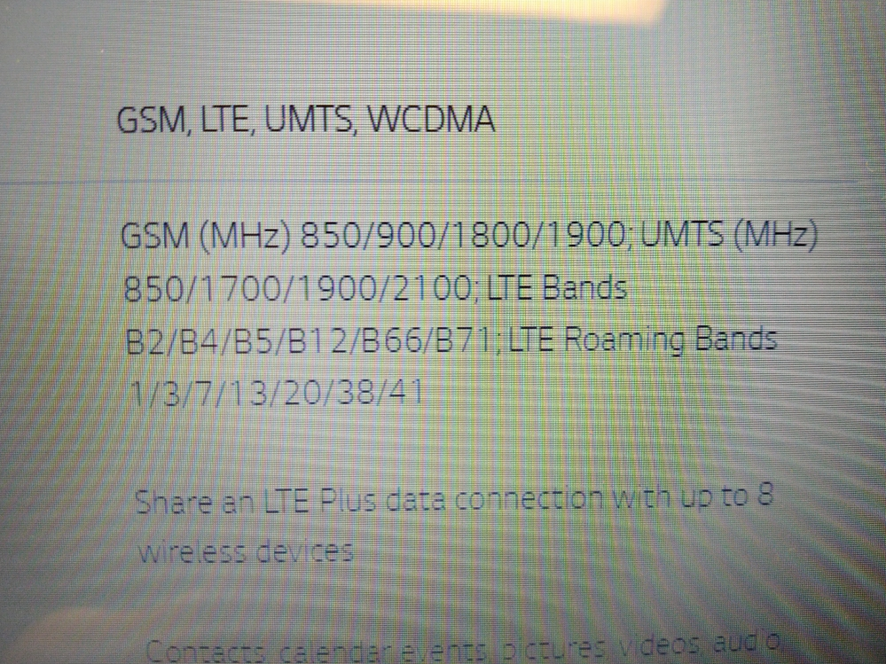 スマートフォンのLTEバンドについて 現在、アメリカ在住で新たにスマートフォンを購入予定です。 そのスマホの帯域を確認したら写真のようにLTEバンド(B2/B4/B5....)とLTEローミング...
