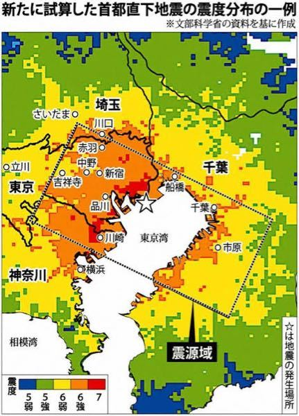 首都直下型地震で一番被害が出ると想定される東京湾北部地震の震源地は、実際にそこに断層があって首都直下型地震の中で一番被害が出るからこのような想定になるのですか? それとも、そこに断層があるかわか...