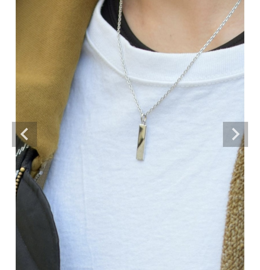 彼氏のプレゼントでこんな感じのネックレスを探しているのですが、いいブランドや商品がありましたら教えて頂きたいです。 ちなみに画像はライオンハートのものです。 シルバーで細長いプレート?が付いてい...