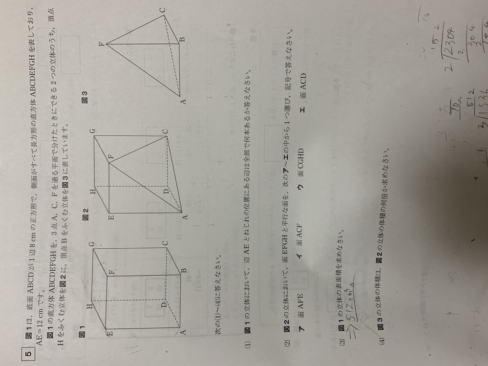この問題の(4)の解説と解答をお願いします...!!