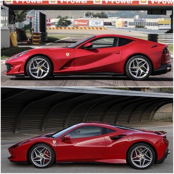 どっちの方がかっこいいですか? V12NAのフラッグシップFR とV8TurboのMR。僕は当然のように上記のが好みですが、日本人はMRが好みなようで中古も(台数がまだ少ないのもあるが)F8トリ...