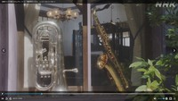 「おちょやん」に出ていた楽器について ・ 2月1日放送のNHKドラマ「おちょやん」に、道頓堀の楽器店の様子が映っています。「楽器は舶来の一級品」とのことですが、そのシーンがこの写真です。 おちょやんこ...