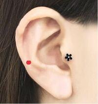 赤い点をつけた所に開ける穴ってなんて名前なのでしょうか? 私の場合赤い点の位置が軟骨ではなく肉の部分です。ここに開けるのって変でしょうか?