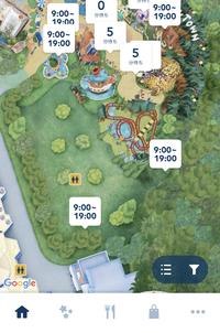 ディズニーリゾート公式アプリのマップで新エリアが反映されません。待ち時間などは出るのですがどうすれば直りますか?