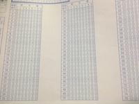 今年の大学受験生に聞きます。 今回の大学入学共通テストの「国語」のマークシートは、縦の列での解答欄は何個ずつでしたか?例えば、これは別の模試のマークシートですが、25個という感じです。覚えている方いた...