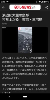 [浜辺に大量の魚が打ち上がる 東京・三宅島]ーこれは大地震の前兆ですか?