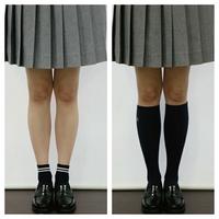 女子高生の靴下の長さについて   最近、女子高生の間で短い靴下が 流行っていることを知りました。 私は普段からハイソックスをはいている のですが、客観的にダサいですか?  また、男性にお訊ねしますが 画像の...
