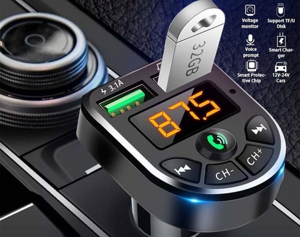 mp3 モジュレータープレイヤー ワイヤレスハンズフリーオーディオレシーバー についてです。 USBの充電端子以外の使い方が分かりません。 説明書が英語の羅列で… 表示しているFMの周波数に合わ...