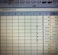 Excelの四捨五入の処理方法を教えてください! 1500円のところ(消費税計算で小数点以下の数値あり)が端数がないはずなのにROUNDUP関数で処理すると繰り上がってしまいます。表示にはありませんが、隠れている小数点以下の数値が影響しているのでしょうか?だとすれば影響しない方法を教えてください。