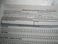 教えて下さい名古屋にあるフィリピン領事館えパスポート更新の予約のためパソコンより更新用紙ダウンロードしたのですが この用紙でいいので すか?