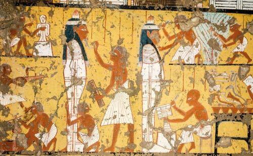 古代エジプト絵画みたいな作風の日本絵画を教えて下さい! イメージ↓