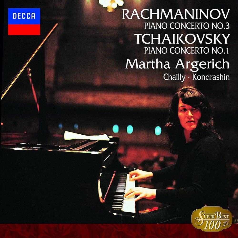 このCDはいかがでしょうか。感想など。マルタ・アルゲリッチ・ラフマニノフピアノ協奏曲第3番&チャイコフスキーピアノ協奏曲第1番・です。 CD1枚カップリング。Amazon等。