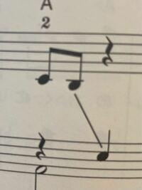 ピアノ初心者です。このななめの線はどうやって弾くのですか?