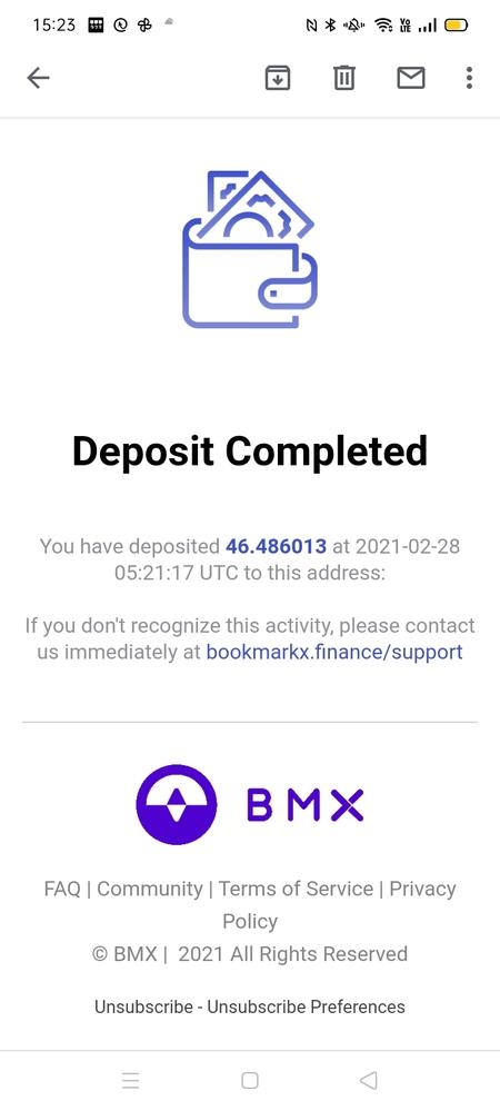 皆様の力を貸してください。 よろしくお願いします。 Gmailに突然このようなメールが届きました。 bookmarkx financeという会社も デポジットした覚えもありません。 Google...