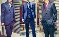 スーツに詳しい方教えてください。チャラくてオシャレな写真のようなのスーツ(特に真ん中と右)が欲しいです。僕は4月から大学生になるのでスーツをビシッとキメて入学式を迎えたいです笑 大学デビューみたいでごめんなさいm(_ _)m こういう感じのスーツってどこの店で手に入れれるのでしょうか?? あと、チャラいスーツは変ですか??母親にはダサいと言われたのですが...。 詳しい方、教えていただきたいです。