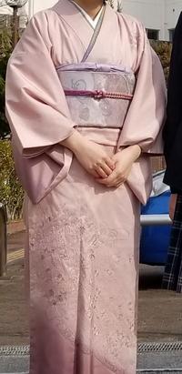 この着物で小学校の卒業式に出席しても大丈夫でしょうか? 出来れば入学式卒業式に、孫の宮参り(3月出産予定)まで着たいと思っています。 屋外で撮影した時の画像です。 私は四十代半ばで、着物初心者です。詳し...
