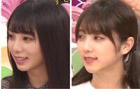 与田祐希さんの昔と変わったところは、 胸が大きくなった、顔がシュッとした(エラがなくなった)、前髪が軽くなった、眉毛を整えた、メイクを変えた、二重幅が広くなった、鼻が高くなったですか?(下の写真鼻変わったように見えますか、?鼻もメイクですかね?)