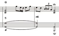 音符の記号についてです。  画像の左下のちょんちょんは何ですか?