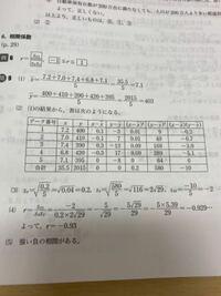写真の図からxの標準偏差Sx、yの標準偏差Sy、x.yの共分散Sxyの求め方を教えて頂きたいです ♀️ 図のしたが答えですがなぜこうなるのかが分からないです汗