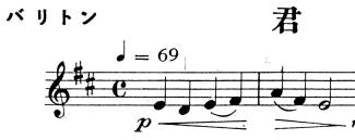 吹奏楽部で君が代の楽譜を貰ったのですが、バリトンでト音記号となっています。 画像の冒頭部分の音階と指番号を教えてください!(後の方の基準にするので...)