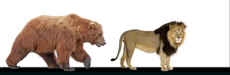 最大最強のクマであるアラスカヒグマですが、最大級のアラスカヒグマならば、最大級のライオン3頭を同時に相手取ったとして互角に戦えると思いますか?