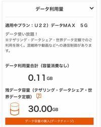 U22)データMAX 5G のプランっは、月30ギガまで使えて30ギガまではずっと価格が変わらないのですか?