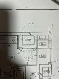 部屋の間取り図にをみると写真のように、洗濯機置き場が二重線で描かれています。これには意味があるのでしょうか? この二重線の縦の長さは1.4cm,横の長さは2.0cmで、1:40の間取り図なので56cm、80cmとなります。 しかし購入を考えている洗濯機は、66cm、72cmです。 しかし、二重線に意味がなければ縦80cm、横192cmととることができます。