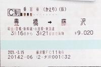 往復乗車券の往路の切符を使った後に、復路の日付を変更することはできますか。