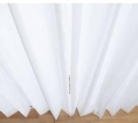 レースカーテンを購入したのですが かっちりと折り目がついていて 気になってしまいます。(とくに1番下の部分) ふんわりとしたウェーブにしたいのですが、 どのようにした良いでしょう?