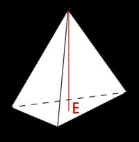 底面が正三角形でAEがCDの√(2/3)であるなら その図形は正四面体ですか?